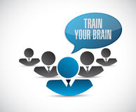 Train your brain teamwork sign concept Royalty Free Stock Photography