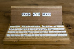 Train your brain Royalty Free Stock Photo
