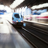 Train with zoom effect Stock Photography
