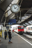 Train Zurich central station Royalty Free Stock Photos