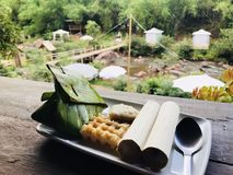 Trainditional thai mat arkivbild