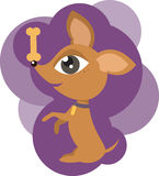 Trained dog vector illustration