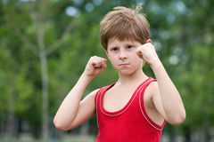 Trained young fighter Stock Photography