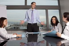 Trainee in office Royalty Free Stock Photography