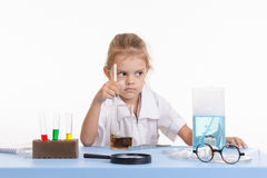 Trainee puts experience in chemistry class Stock Images