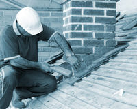 Trainee roofer Stock Photos