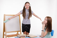 Trainee tells stories in the classroom Royalty Free Stock Photo
