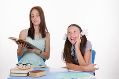 Trainee tutor listens with interest Stock Image