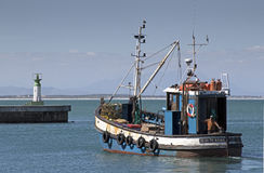 Traineira da pesca em Kalkbay Foto de Stock Royalty Free