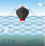Traineira da pesca nos mares altos Fotografia de Stock Royalty Free