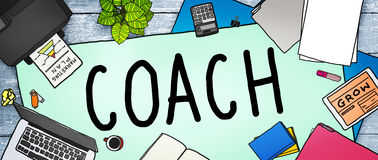 Trainer-Coaching Guide Instructor-Führer-Manager Tutor Concept stock abbildung
