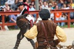 Trainer demonstrates hawks abilitiesenai Stock Photo