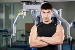 Trainer in a fitness center Royalty Free Stock Photography