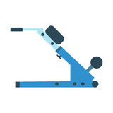 Trainer for fitness and weightlifting in the gym Royalty Free Stock Photos