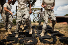 Free Trainer Giving Training To Military Soldiers Royalty Free Stock Image - 88462566