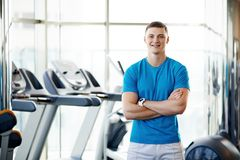 Trainer at the gym Royalty Free Stock Photo