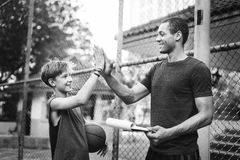 Trainer High-Five Teamwork Ability Concept Royalty Free Stock Images