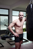 Trainer in his gym Stock Photography
