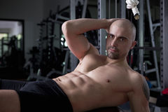 Trainer in his gym Stock Images