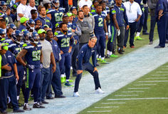 Trainer Pete Carroll Stockfoto