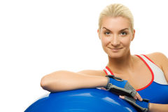 Trainer Relaxing After Exercise Stock Images