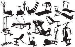 Trainer silhouettes  illustration Royalty Free Stock Photography