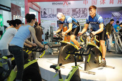 Trainer on Spinning bike