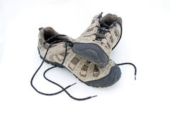 Trainer type shoes. Against a plain white background Royalty Free Stock Photos
