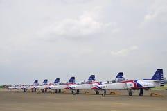 Trainerflugzeuge ROCAF AT3 Lizenzfreie Stockfotografie