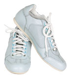 Trainers. Pair of blue trainers, isolated on a white background Royalty Free Stock Images