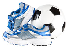 Trainers and football Royalty Free Stock Photo