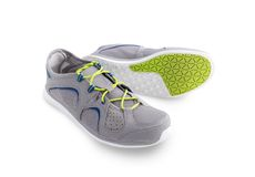 Trainers. Grey sport shoes isolated on the white background Royalty Free Stock Images