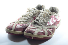 Trainers. A photo of a dirty pair of trainers Royalty Free Stock Photos