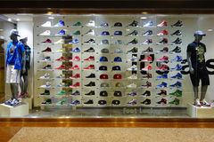 Trainers Shop Window Royalty Free Stock Photography