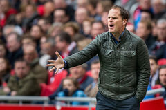 Trainertrainer Frank de Boer Stockfotografie