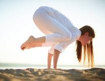 Trainieren auf Strand Stockfotografie