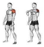 trainieren Die Arme mit der niedrigeren Blockstellung vorwärts anheben