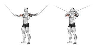 trainieren Locken mit oberen Blöcken der Griffe