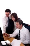 Training. American and asian business people isolated Royalty Free Stock Images