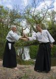 Training of Aikido Royalty Free Stock Photos
