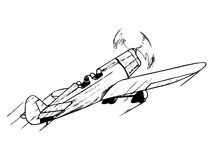 Free Training Airplane In Flight Royalty Free Stock Image - 31334766