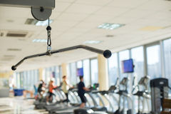 Training apparatus in gym hall. Stock Photo