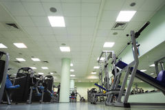Training apparatus in large sport club Stock Photo