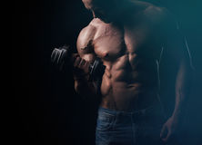 Training arm muscles Stock Images