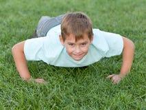 Training athletic kid stock images