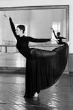 Training ballerina Royalty Free Stock Image