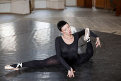 Training ballerina, stretch stock photos