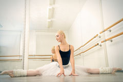 Training in ballet class royalty free stock images