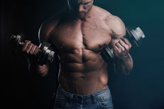 Training with barbells Stock Photos
