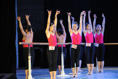 Training for the barre-Basic dance training course Royalty Free Stock Photo